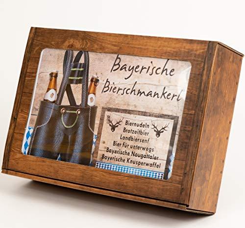 Bayerische Bierschmankerl - Geschenkkorb für Männer mit bayerischen Feinkostspezialitäten - Bayerische Geschenke