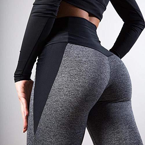 LIUYB Schwarz Grau Patchwork Fitness Leggings Damen High Waist Push-Up-dünne Hosen Elastizität Workout Thick-Gamaschen for Frauen (Farbe : Dark Grey, Größe : XXXL)
