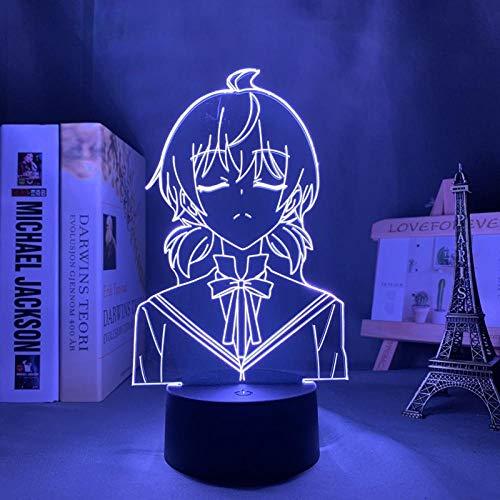3D night light Bloom Into You Yuu Koito Led Night Light for Bedroom Decor Nightlight Anime Gift Table 3d Lamp Yuu Koito Bloom Into You
