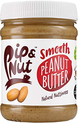 Pip & Nut Smooth Peanut Butter - 6 x 255g - Absolutely No Palm Oil,...