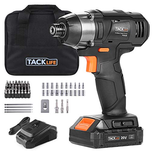 TACKLIFE 20V MAX Cordless Impact Driver, 1590 in-lbs...
