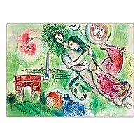 マルク シャガール 抽象 コック 新婚夫婦 絵画 印象派 帆布 壁 アート プリント シュルレアリスム ヴィンテージ ポスター リビング 部屋 装飾 写真 40x60cm いいえ フレーム