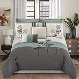 Riverbrook Home 8000 8-Piece Comforter Set, Queen, Emilie - Blue/Gray/Ivory