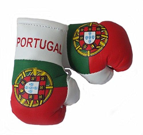 Mini Boxhandschuhe PORTUGAL, 1 Paar (2 Stück) Miniboxhandschuhe z. B. für Auto-Innenspiegel