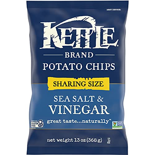 Kettle Brand Potato Chips, Sea Salt & Vinegar Kettle Chips, Sharing Size 13 Oz