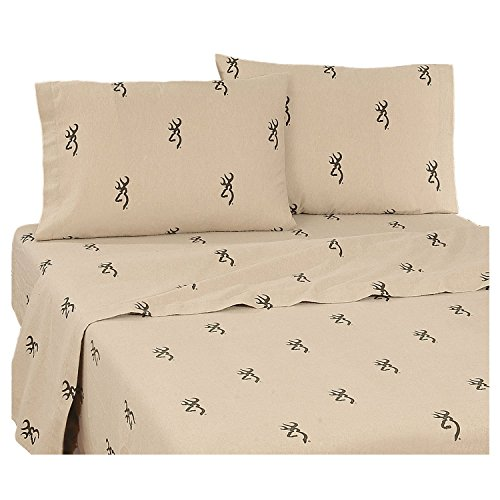 Browning Unisex Buckmark Full Sheet Set Brown One Size