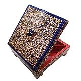 India Meets India Caja organizadora de joyas artesanales de Navidad, caja de frutas secas, caja de joyas, organizador de almacenamiento para mujeres, fabricado por artesanos indios premiados