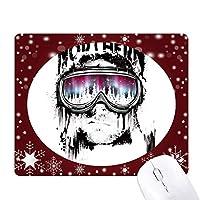 落書き通り北のスキーゴーグル オフィス用雪ゴムマウスパッド