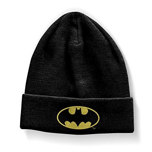 Batman Officiellement Marchandises sous Licence Signal Logo Bonnet (Noir)