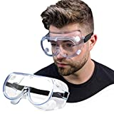 ✔️FDA REGISTERED✔️ Vakker Safety Goggles are FDA registered and are completely air tight to protect against chemical spills, dust, water, and much more. 💎CRYSTAL CLEAR✔️Vakker Safety Goggles are made of crystal clear soft PVC that fit over prescripti...