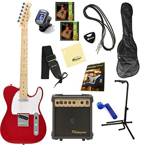 【初期調整済みですぐ弾ける!】 Bacchus バッカス BTE-1 オリジナル エレキギターセット テレキャスタータイプ (M/CAR)