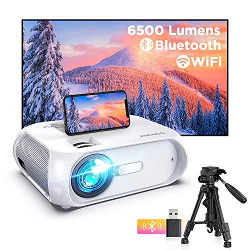 BOMAKER Proyector WiFi, 6500 Lúmenes 1080P Nativo Full HD Proyector Portatil Nativo 720P 300' Duplicar Pantalla, Mini...