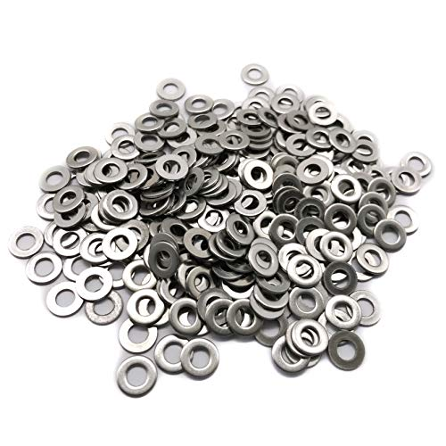 M4 Flat Washer, 304 Stainless Steel, 4mm ID, 9mm OD, 0.8mm Thickness, Plain Finish, for Bolt and Screw (Pack of 300)