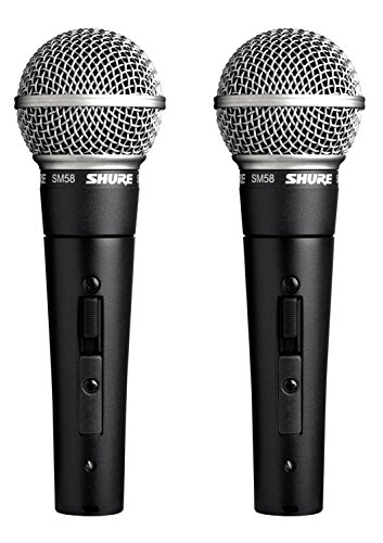 Shure SM58S Professional Vocal Microphone w/On/Off Switch (2 Pack)