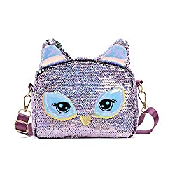 Unicorn Purple Sequins Crossbody Shoulder Bag
