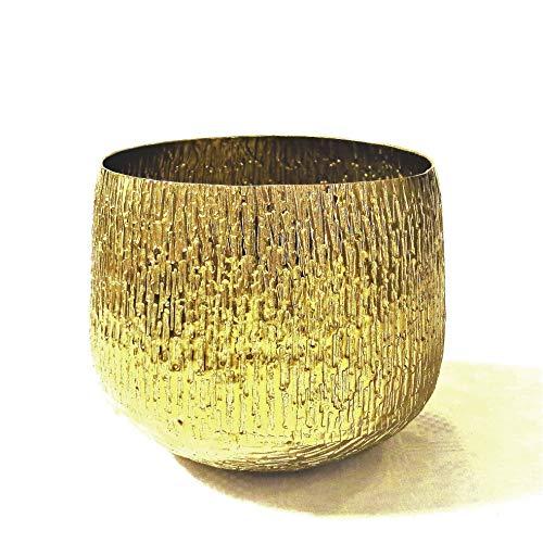 Colmore Vase Alu Antik Gold Bronze 22 x 22 x 18 cm 001-18-2570-S-Bronze