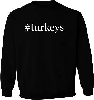 #turkeys - Men's Hashtag Pullover Crewneck Sweatshirt
