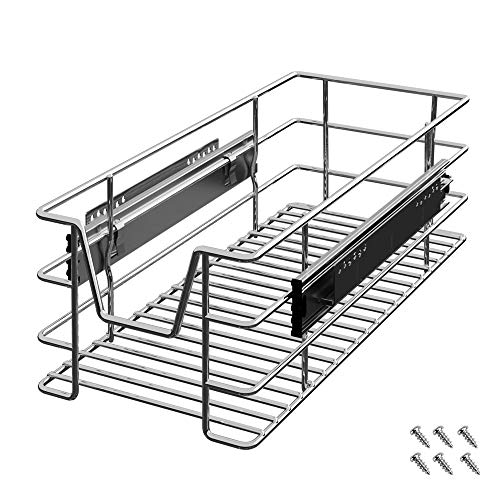 Deuba Cajón telescópico Bandeja de Metal extraíble 30cm Organizador Interior almacenaje para Cocina baño Armario Taller