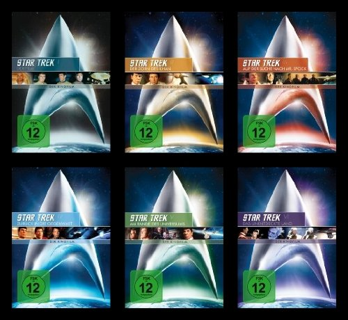 Star Trek RAUMSCHIFF ENTERPRISE Kinofilm Collection ORIGINAL CREW / CAPTAIN KIRK 6 DVD Edition