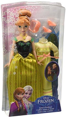 Disney Frozen - Muñeca, Anna y Sus Vestidos (Mattel CMM30)