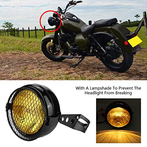 Motorcycle Head Lamp, Long Service Life Modification Headlight Headlight for Bicycles