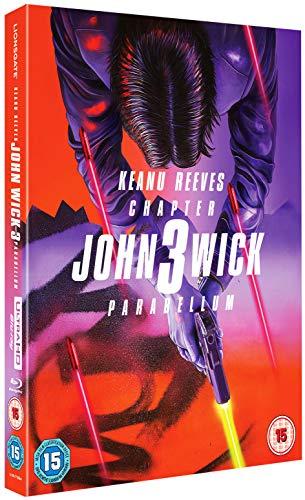 John Wick 3 Parabellum 4K, Steelbook, Blu-ray,4k +Blu-ray in Schuber, ohne deutschen Ton, UK-Import, Uncut, Region B