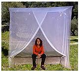 EVEN NATURALS MOSKITONETZ Einzelbett, Mückennetz für Bett, feinste Löcher, rechteckiges Camping Netz, Insektenschutz Etagenbett, 1 Eintrag, einfache Anbringung, Tragetasche, Keine...