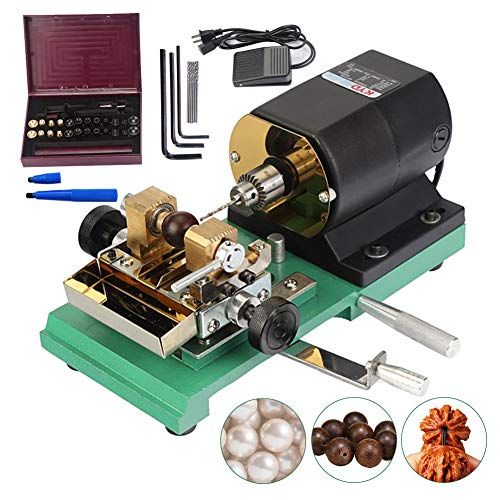 HiHydro 280W 110V Pearl Drilling Machine Driller Full Set Drill Holder for Shell Coral Amber Stone Jewelry Tools 110V