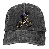 N/A Ocio Sombrero,Dad Hat,Sombrero De Sol,Sombreros Sombrilla Al,Sombrero De Deporte,BMX Clipart Rider Denim Jeanet Gorra De Béisbol Ajustable Dad Hat
