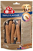 Delicious chewy ribs with pork hide, beef hide, wrapped with chicken fillet Long lasting chewing fun helps tartar and plaque control Satisfies a dog's natural chewing instinct No added sugar, flavour enhancers, GMOs and artificial preservatives