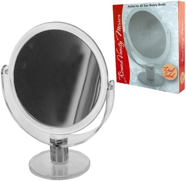 bulk buys Dual Sided Round Credence Stand 5 ☆ very popular Up 4 Vanity Pack - Mirror of
