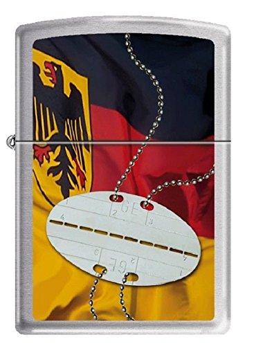 1300113 Zippo Feuerzeug Deutschland Einsatz Bundeswehr Erkennungsmarke