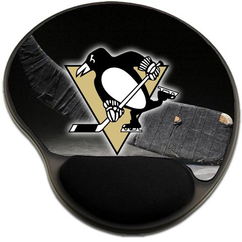 Penguins Hockey Mousepad Base with Wrist Support Mouse Pad Great Gift Idea Pittsburgh