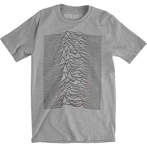T-shirt Joy Division - Unknown Pleasures Heather (slim fit) L - Gris