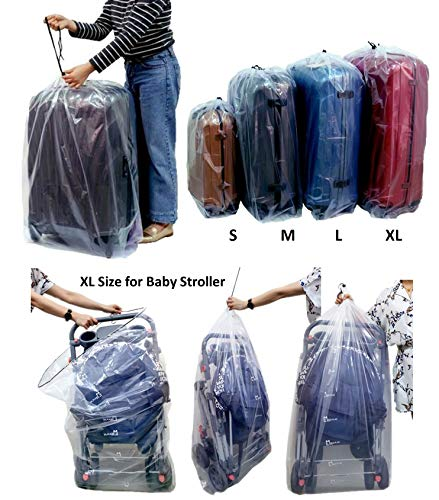 Dust Cover Big Plastic Drawstring Bags Multi-Purpose for Storage and Keeping Luggage, Big Dolls, Blankets, Pillows, Suitcase Good for Household...