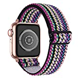 OULUCCI Stretchy Loop Strap Compatible for Apple Watch Bands 40mm 38mm iWatch Series 6/SE/5/4/3/2/1 Stretch Elastics Wristbelt