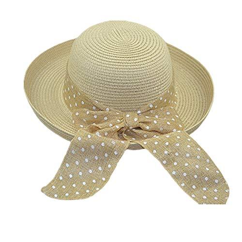 BOENTA SonnenhüTe Damen Strohhut Damen Faltbar Breitkrempiger Sonnenhut Damen Packbare Sonnenhüte für Frauen Sommerhüte Für Frauen Sommer-Hüte beige,Freesize