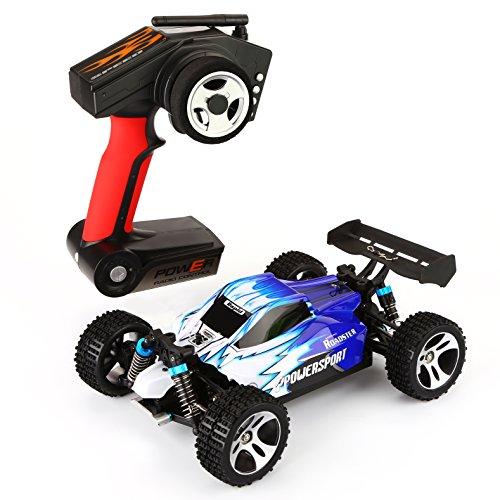 1:18 Buggy, YOKKAO Auto RC Macchina con Telacomando [Super Motore] [Modello di Auto] Fuoristrada Radiocomandato Auto Giocattolo Wltoys A959 (Blue)