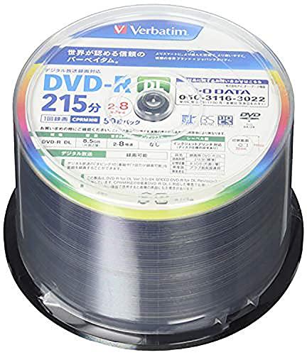 バーベイタムジャパン(Verbatim Japan) 1回録画用 DVD-R DL CPRM 215分 50枚 片面2層 2-8倍速 VHR21HP50V1FFP [フラストレーションフリーパッケージ(FFP)]