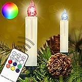 Homelux 20 RGB LED Weihnachtskerzen Christbaumkerzen Weihnachtsbeleuchtung Fernbedienung Timer Kabellos - 10/20/30/40er Set - DEUTSCHER HÄNDLER