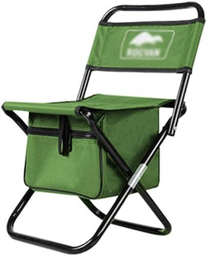Tabourets Mobilier de Camping Chaise portable Chaise De Stockage Pliante Chaise à Dos Chaise De Pêche en Plein Air Chaise Longue De Plage Chaise Barbecue en Plein Air Chaise De Camping De Stockage
