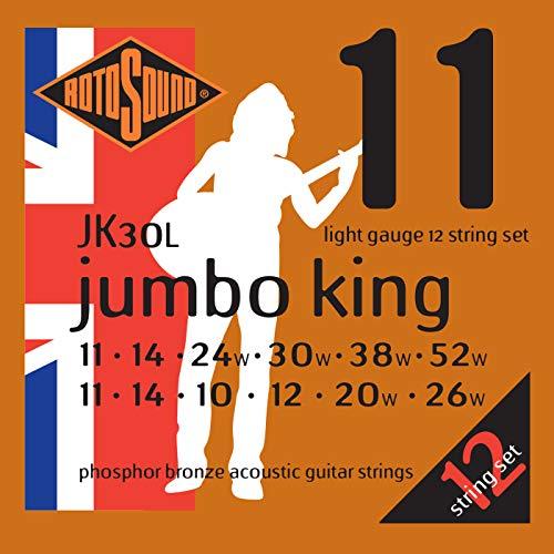 Rotosound JK30L Phosphor Bronze Light Gauge 12 String Acoustic Guitar...