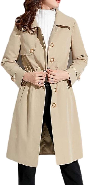Xswsy XGCA Women's Single Breasted Autumn Winter Outwears Windbreaker Topcoat