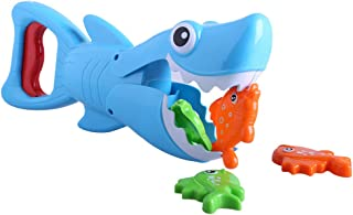 Lcyus Kids Shark Bath Toy, Shark Bath Educational Water Fish Hunt Pool Game Great White Shark Toys with Teeth Biting Action Perfect for Kids (As Shown)