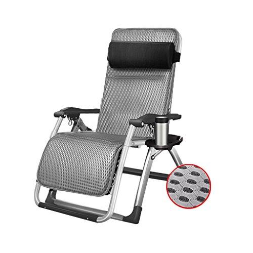 CGF-Chaises pliantes longues Bains de Soleil Pliant Recliner Camping Loisirs Pont Sport Chaise Portable Plage Jardin Chambre Balcon Bureau Gris Portant Poids 200 kg