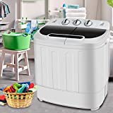 SUPER DEAL Portable Compact Mini Twin Tub Washing...
