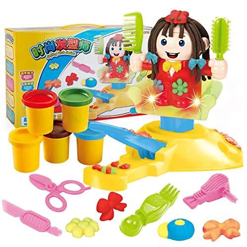 Linbing666 Juguetes de Arcilla de Colores para niños, Juguete de Corte de Pelo simulado, Kit de Arcilla DIY, 5 Colores, para niños de 3 años y Mayores-Material Seguro