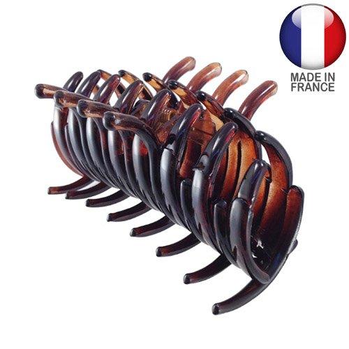 293-003 – Pince pour cheveux française tubulaire 6 cm couleur tortue – Pince pour cheveux