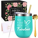 WONDAY Great Birthday Christmas Wine Gifts for Women, Mother, BFF, Best Friends, Wife, Daughter, Sister, 12 OZ Stainless...