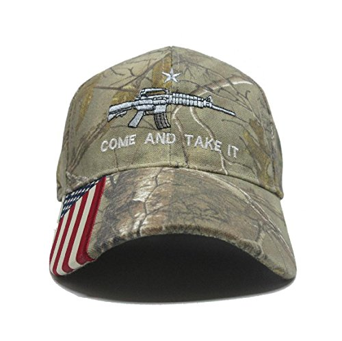 Military Imagine Come and Take It Rifle AR15 2nd Amendment Cap Hat American Flag